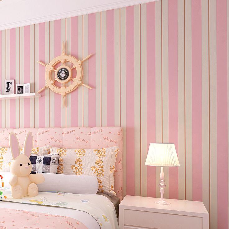 Best 25 pink stripe wallpaper ideas on pinterest - Pink and white striped wallpaper bedroom ...