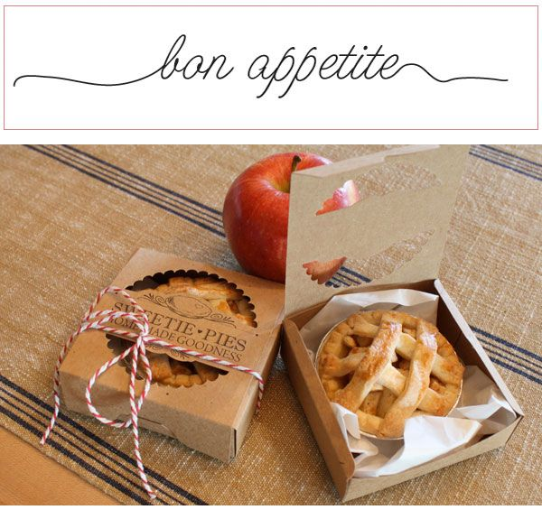 Delicious! Learn to make DIY Miniature Pie Wedding Favors in our easy tutorial! http://blog.weddingstar.com/diy-miniature-pie-favors/ {edible wedding favor, miniature, pie, handmade wedding, rustic}