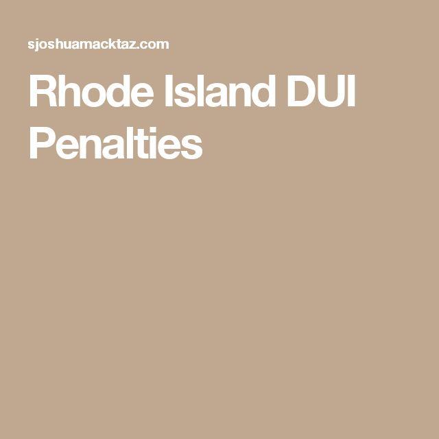 Rhode Island DUI Penalties
