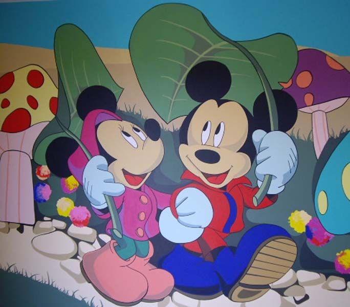 """Kids wall murals decor, """"Walt Disney"""" Pereti pictati copii, """"Walt Disney"""""""