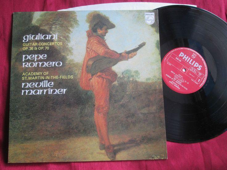 Giuliani Pepe Romero Neville Marriner Guitar Concertos Op 36 & Op 70 Vinyl LP