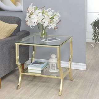 Amy Glass End Table - 18632612 - Overstock.com Shopping - Great Deals on NA Coffee, Sofa & End Tables
