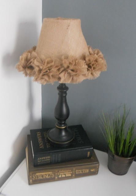 {createinspire}: Burlap Lamp Shade