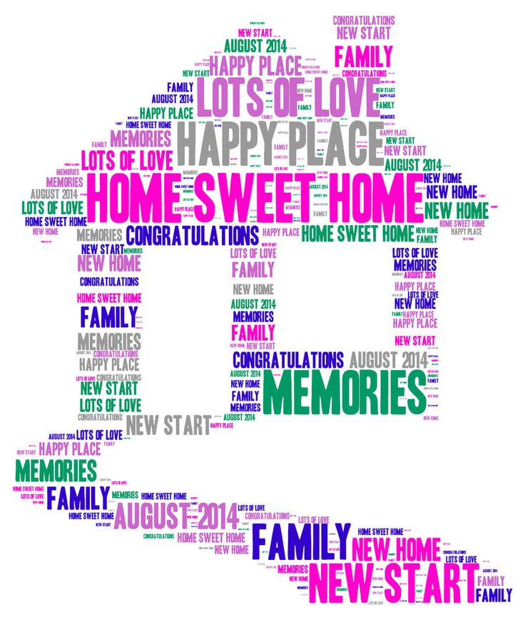 Personalised Word Art New Home House Good Luck Wedding A4 Print Gift Present