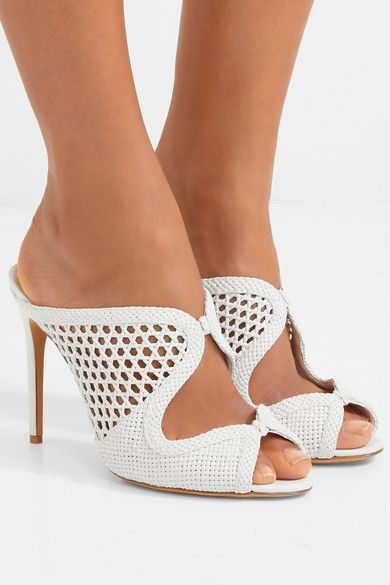 d02acaf209f59 Alexandre Birman - Tanny Woven Leather Mules - White