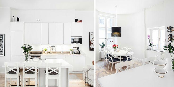 Modernt kök mitt i centrala Göteborg.