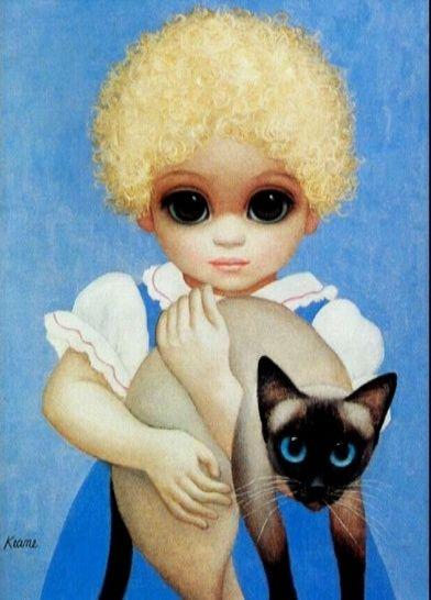 Margaret Keane~~~~ SAIMISE CAT