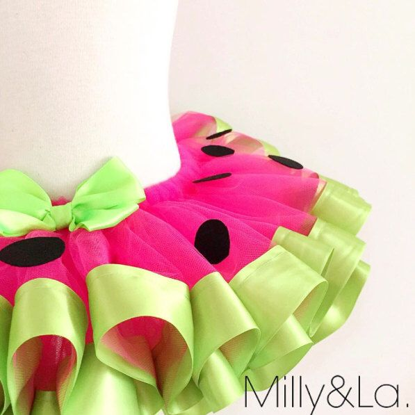 Watermelon Tutu Ribbon Tutu, Watermelon Party, first birthday tutu by Millyandla on Etsy https://www.etsy.com/listing/265448640/watermelon-tutu-ribbon-tutu-watermelon