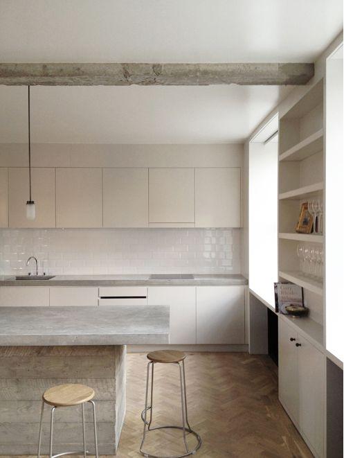 Concrete Counters And Tile Backsplash Queens Court London