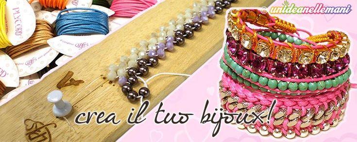 Sistema semplice e comodo per fare braccialetti con perline facili, originali e belli, utilizzando un apposito telaio e speciali kit completi di tutto.