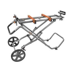 RIDGID Mobile Miter Saw Stand with Mounting Braces AC9946 at The Home Depot - Mobile