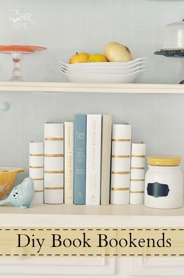 Diy Book Bookends - take those fake books from the craft store and transform them into something useful!