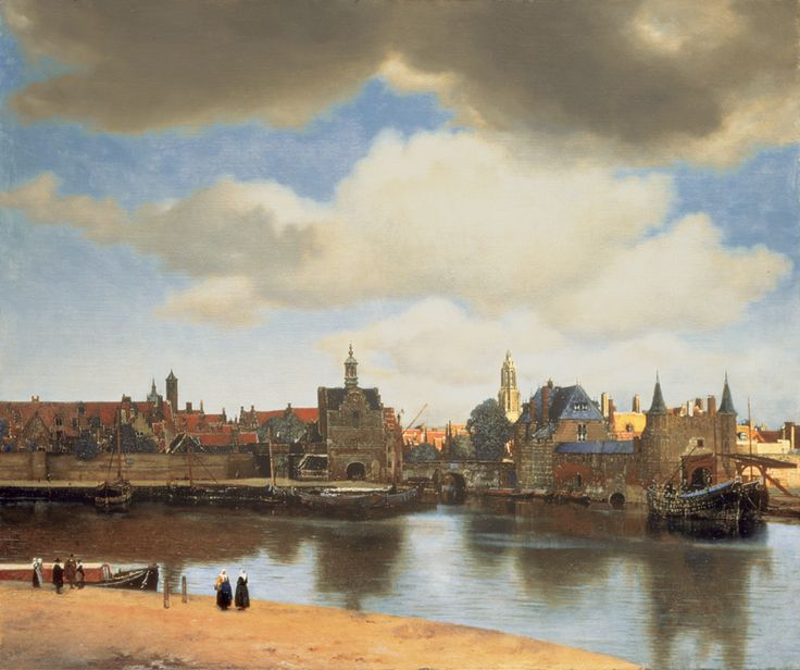 View of Delft (c. 1660-1661), oil on canvas, 96.5 x 115.7 cm, Johannes Vermeer. Collection: Mauritshuis, The Hague. Image: Mauritshuis.