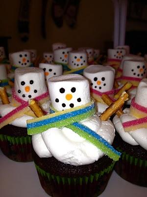 Winter Fun Snowman Cupcake decorating at Pop Revolution Studio 12/21/12.
