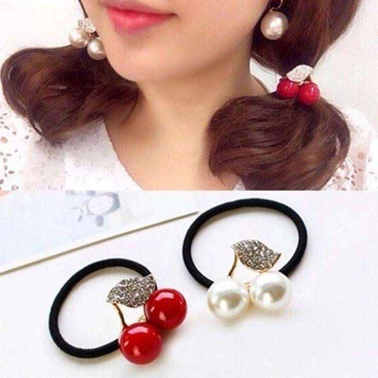 Koreanische Stile Simulierte Perlen Gummiband Casual Frauen Headwear Haar-accessoires Mädchen ist Scrunchy Pferdeschwanz Halter