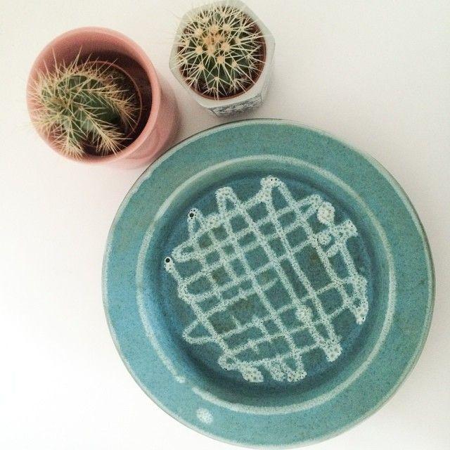 'jette Andersen keramik' fad/skål/stort askebæger i smuk turkis - 89kr