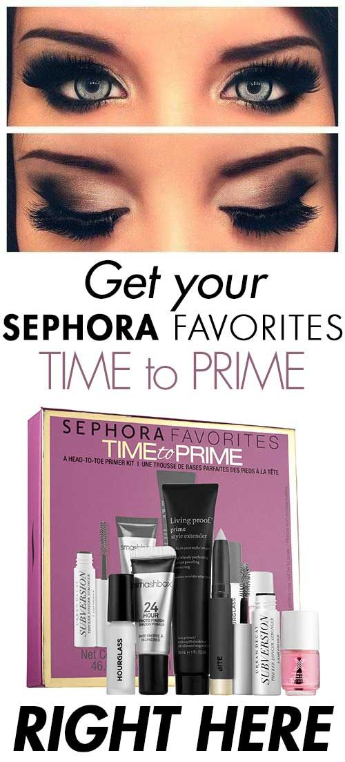 Want to have Beautiful Eyelashes? Get Your Sephora Favorites Time to Prime Makeup Kit by following these easy steps right here! : http://beautybuzz.info/get-sephora-time-prime-kit/