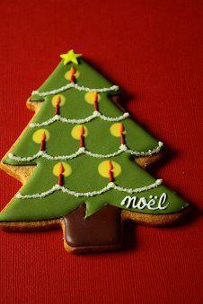 Tree with candles. クリスマス アイシングクッキー Part 2-gooブログ