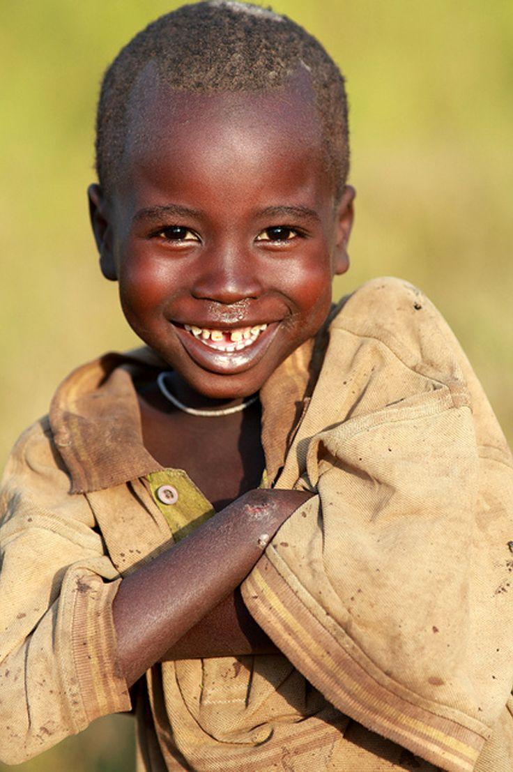 Africa | Young Suri boy in Koka near Tulgit. Omo Valley, Ethiopia. | ©Dietmar Temps