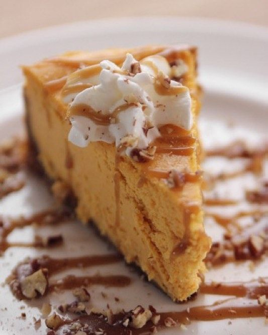 Pumpkin Gingersnap Cheesecake reaches new heights of decadence with a ...