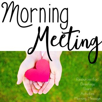This set of Morning Meeting resources includes powerpoint slides of 20 greetings, 20 shares, 20 activities, and 6 morning message templates that can be used digitally and projected every day, or can be printed, laminated, and put on binder rings. Also included are blank templates in case you'd like to add your