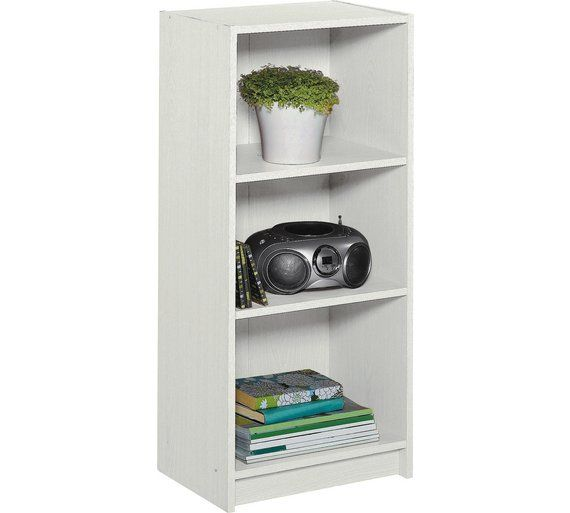 Buy HOME Maine Half Width Small Extra Deep Bookcase - White at Argos.co.uk, visit Argos.co.uk to shop online for Bookcases and shelving units, Living room furniture, Home and garden