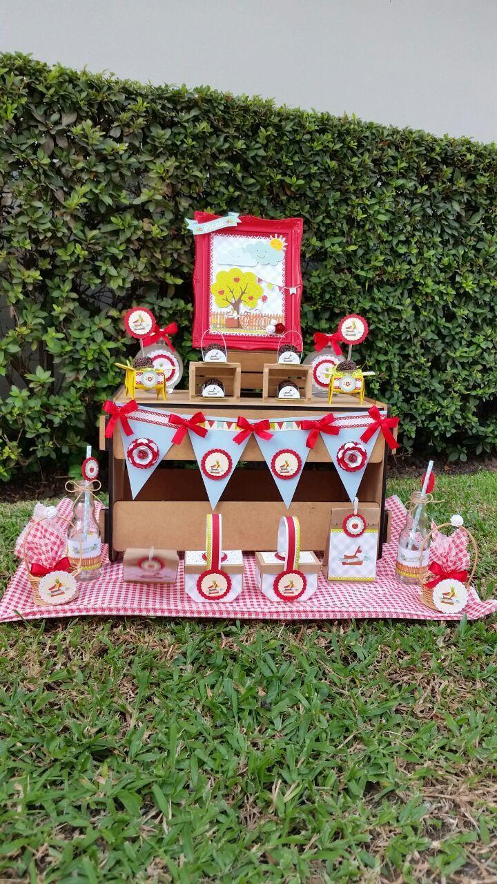 mesa decorada tema picnic