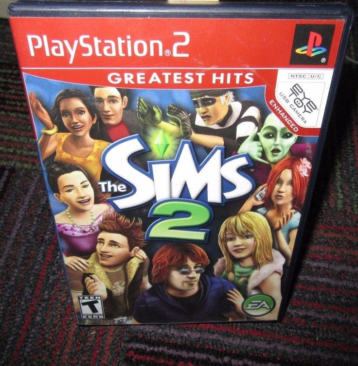 SIMS 2 GREATEST HITS PS2 PLAYSTATION 2 GAME, BUILD YOUR WORLD, CASE MANUAL GAME
