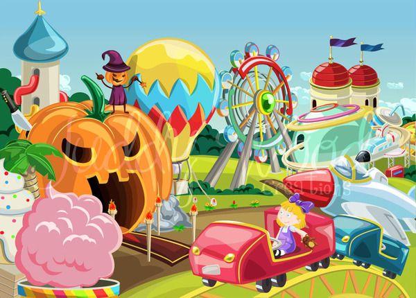 amusement park illustration | The Amusement Park @ FC Studio Argentina on Behance