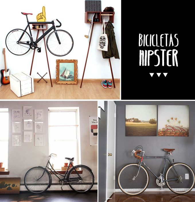 Decoración hipster: detalles vintage, letras de madera, láminas antiguas, vinilos... Todo lo que encontrarás en la casa de un moderno.: Decoración Hipster, Bicicleta Hipster