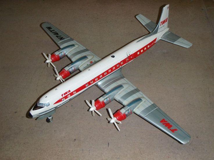 Old Yonezawa Cragstan Trans World Airlines Dc 7c Tin