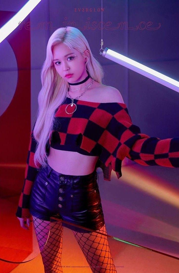E U Everglow Korean Fashion Trends Kpop Girls Kpop Outfits
