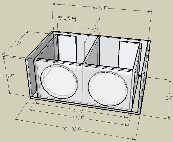 4 12 subwoofer box design 1