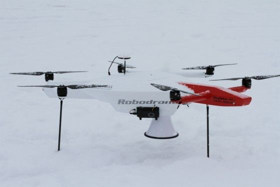 Let it snow, let it snow, let it snow... And #Robodrone still flies ;-)