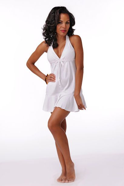 Elegantly Styled Terry Halter Dress  Price: $39.99