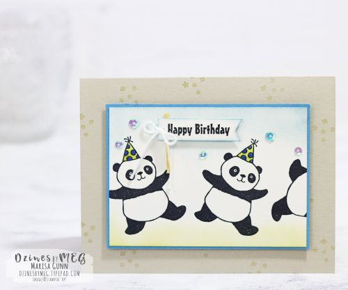 It's a cute as Panda Party! By Marisa Gunn - guest designer for The Crafty Carrot Co. Feb 2018 program.