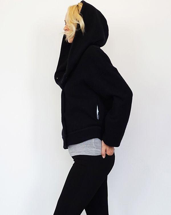 ITEM 2016AW AROMAS Foodie Wool Short Coat / Black