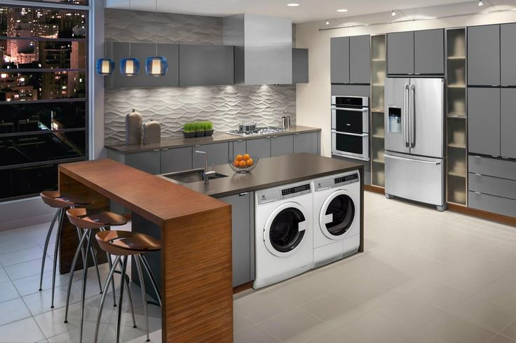 Compact laundry machines perfect for apartments with kitchen ...