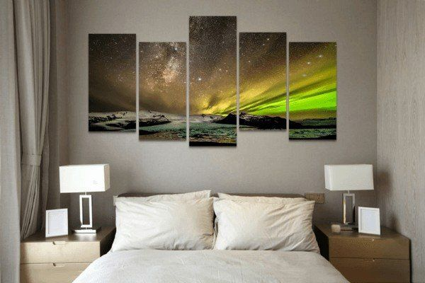 Style Your Home Today With This Amazing 5 Panel Alaska Aurora Borealis Framed Wall Canvas Art For $99.00  Discover more canvas selection here http://www.octotreasures.com  If you want to create a customized canvas by printing your own pictures or photos, please contact us.