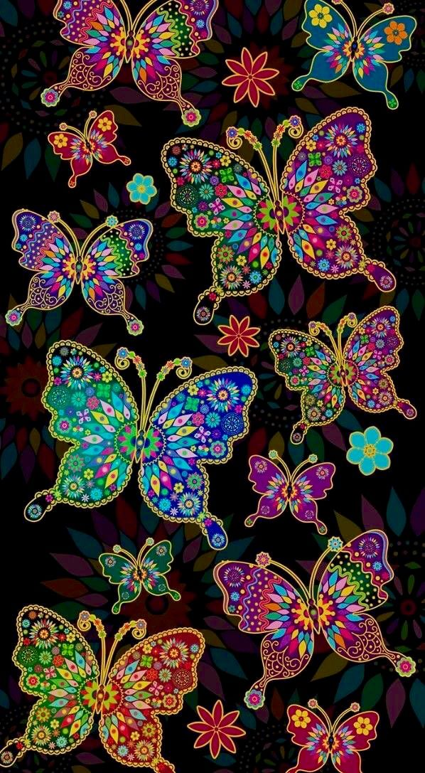 Colorful Butterflies Ilustration Background Wallpaper