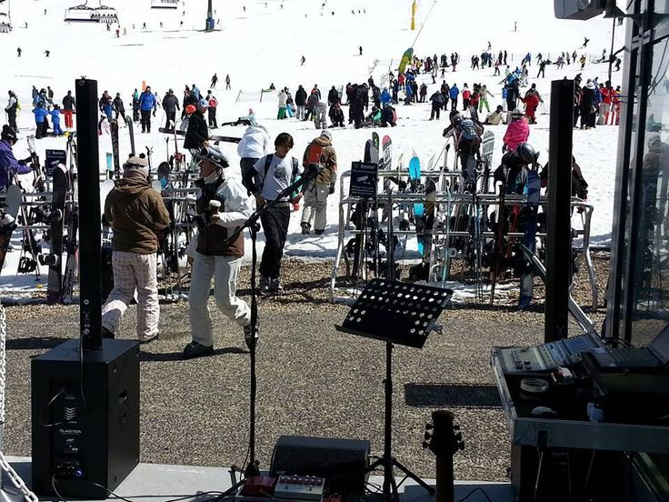 Thanks to Mark Lockyear for these terrific gig shots taken in snowy Perisher, New South Wales - see the TLA 1.3 System along with an SFM07A wedge.  TLA stands for True Line Array and it is this characteristic of the system that makes it a perfect choice for outdoor use where large distances need to be covered with even sound. #pasystem #linearray #proaudio #portablepa #livemusic #atprofessional