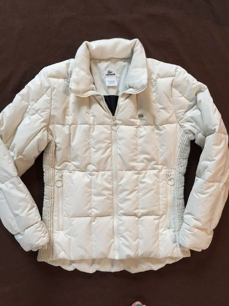 LACOSTE Down Feather Puffer Jacket Size 36 (XS us) Snow Winter Warm #LACOSTE #Puffer