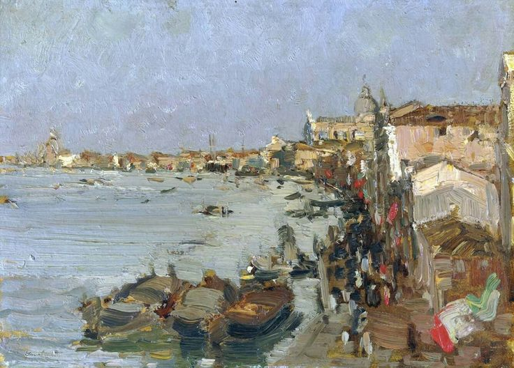 Emma Ciardi (Italian painter) 1879 - 1933  La Giudecca, s.d. oil on canvas 28 x 38.3 cm. (11.02 x 15.08 in.) signed Emma Ciardi (lower left)