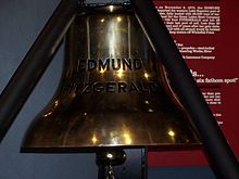 Ship's bell of the Edmund Fitzgerald; the bell is inscribed with the names of the 29 crewmembers that diedwhen the ship sank on the 10th of November, 1975.
