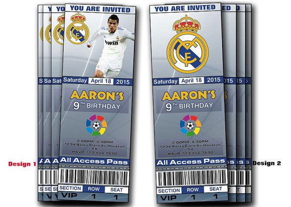 Real Madrid Birthday Party Invitation by HappyDigitalPrints