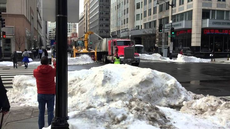 A Fascinating Snow Removal Machine Clearing the Street in Washington DC