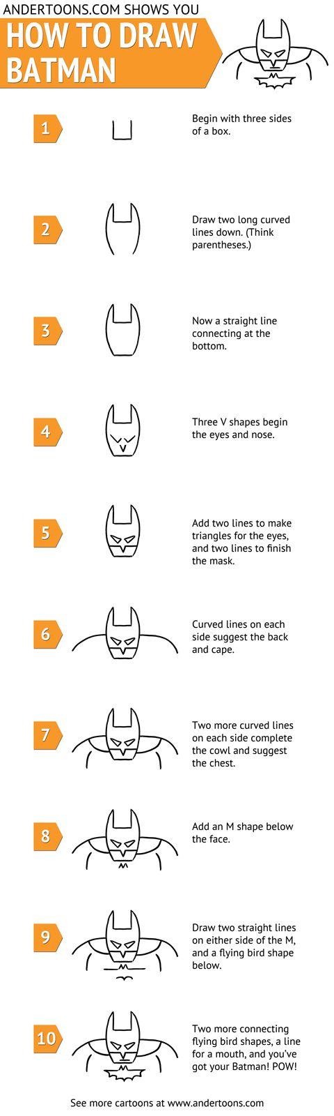 Comment dessiner Batman - http://www.dessein-de-dessin.com/comment-dessiner-batman/