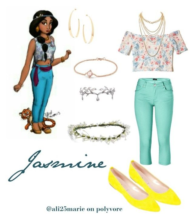 """Modern Jasmine"" by ali25marie on Polyvore featuring Venus, Hollister Co., Emily Rose Flower Crowns, Lana, Remedios, David Yurman, Summit by White Mountain, Charlotte Russe and modern"