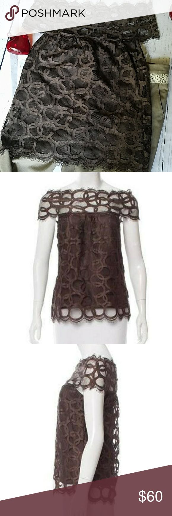 Robert Rodriguez Sleeveless Lace Top Bateau neckline. Scallop trim. Excellent used condition. Lined. Non smoking home Robert Rodriguez Tops