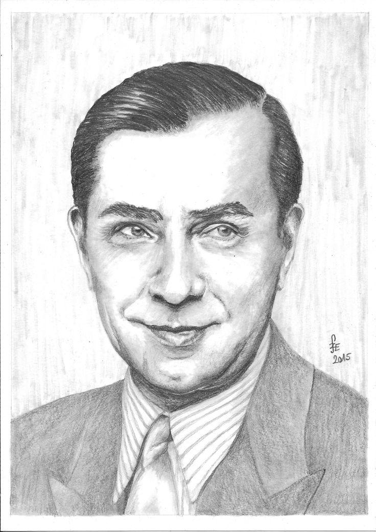 Pencil drawing portrait Lugosi Béla by Erika Székesvári  https://www.facebook.com/ercziart/